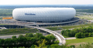 The Allianz Arena in Munich, Germany.
