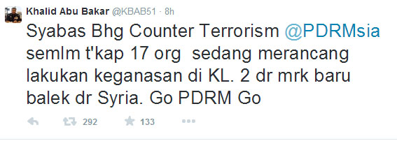 khalid-abu-bakar-tweet-malaysia