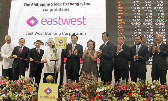 Shown in the photo (L-R): EW Independent Director Jose Sandejas; EW Independent Director Paul Aquino; EW President and CEO Antonio Moncupa, Jr.; EW Chairman Emeritus Andrew Gotianun, Sr.; PSE Chairman Jose T. Pardo; PSE Director Vivian Yuchengco; PSE President and CEO Hans B. Sicat; PSE Director Alejandro T. Yu; PSE Chief Operating Officer Roel A. Refran and EW Chief Operating Officer Jose Emmanuel Hilado.