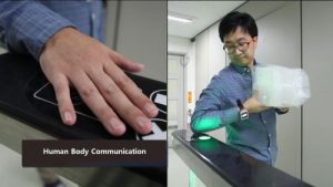 Body Communication: ETRI researchers have developed a technology that is able to transmit signals quickly and securely via the human body.