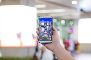 NetDragon's AR navigation app running at Fuzhou Airport