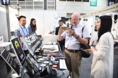 Exhibitors at the Fashion Tech & Trade Services zone showcase ways to incorporate high-tech ideas into fashion design and business processes.