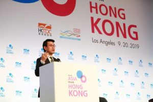 Addressing 'Think Asia, Think Hong Kong' in Los Angeles, Edward Yau, Secretary, Commerce & Economic Development, HKSAR highlighted HK's longstanding trade ties and economic relationship with the US.
