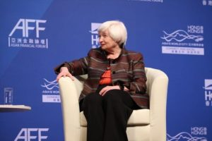 Dr. Janet L. Yellen, Chair, Board of Governors, Federal Reserve System (2014–2018)