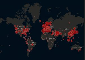(Image credit the Johns Hopkins COVID-19 heat map https://coronavirus.jhu.edu/map.html )