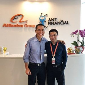 WebNIC CEO, TK Tan and GM of Online Business at Alibaba Cloud International, Bridge Song posed for a photo to comemmorate the partnership.