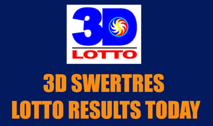 3D Swertres Lotto Result