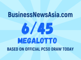 6/45 Megalotto Result Today
