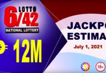 6/42 Lotto Result